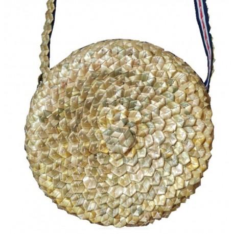 Funda pandereta y bolso artesano