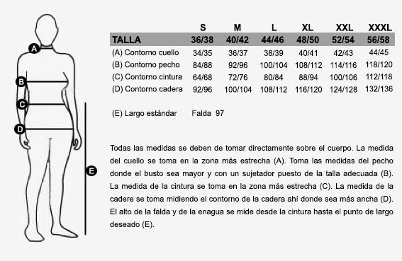 Saia gallega típica tradicional en paño de lana con cintas de pasamaneria, vuelo 4,50 mts.