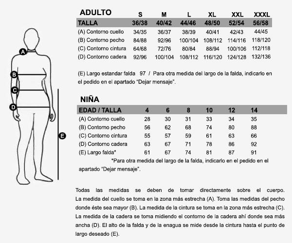 Falda regional para traje típico tracidional de aldeana gallega, en batista de algodón.